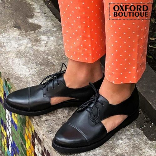 Oxford Preto Aberto na Lateral