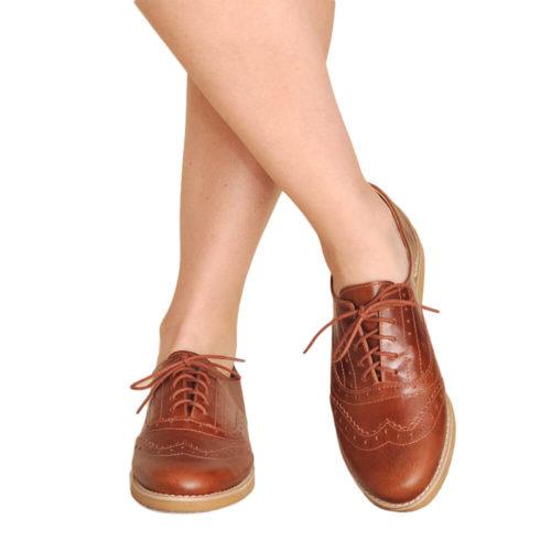 Sapato Oxford Pinhão