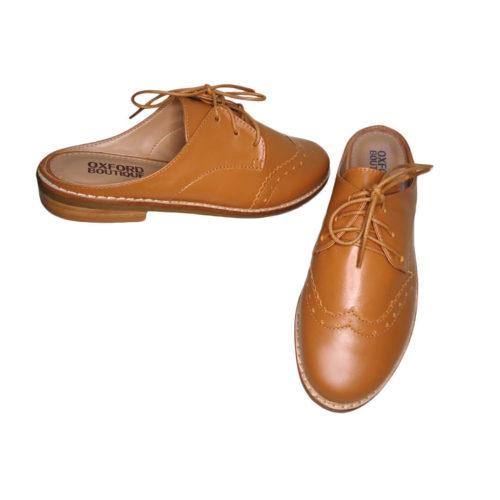 Sapato Oxford Mule Feminino Marrom Oxford Boutique