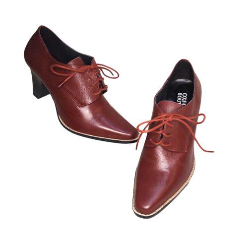 Sapato Derby Vinho Salto 8,5