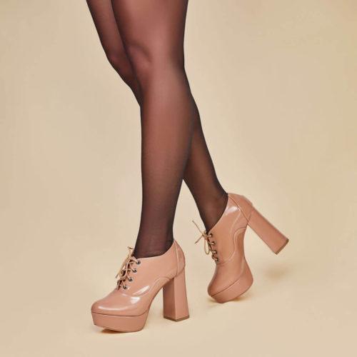 Oxford Boutique Nude Verniz Salto12