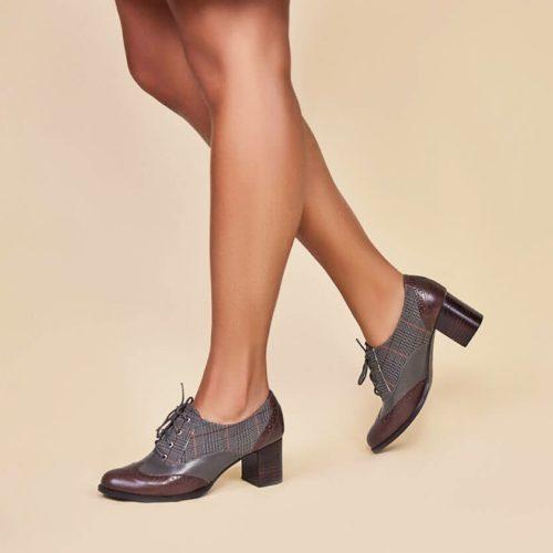 Sapato Oxford Xadrez