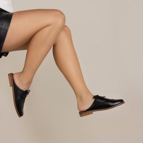 Sapato Derby Mule Preto