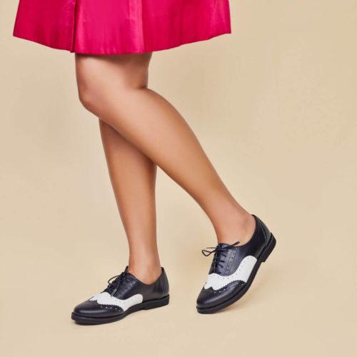 Sapato Oxford Clássico Preto e Branco